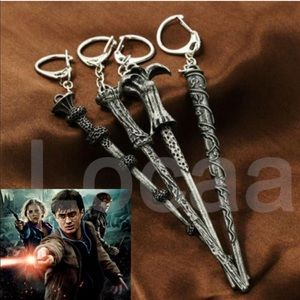 4 pc. Harry Potter Dumbledore Wand Key Chains